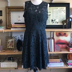 BHLDN ANTHROPOLOGIE HITHERO GREEN LACE DRESS